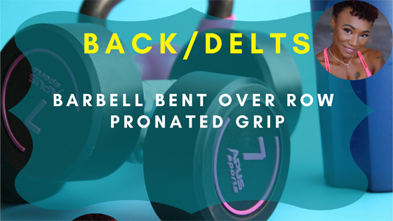 Barbell Bent Over Row Pronated Grip