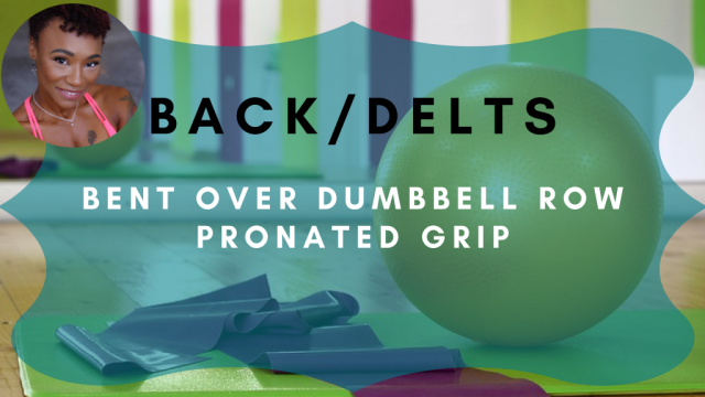 bent over dumbbell row pronated grip