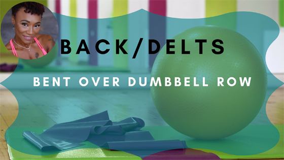 back delts bent over dumbbell row