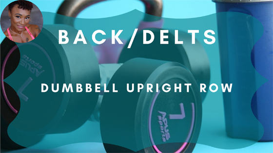 back delts dumbbell upright row