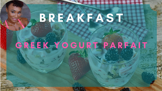 greek yogurt parfait breakfast