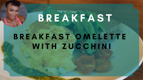 omelette with zucchini breakfast