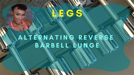 Alternating Reverse Barbell Lunge