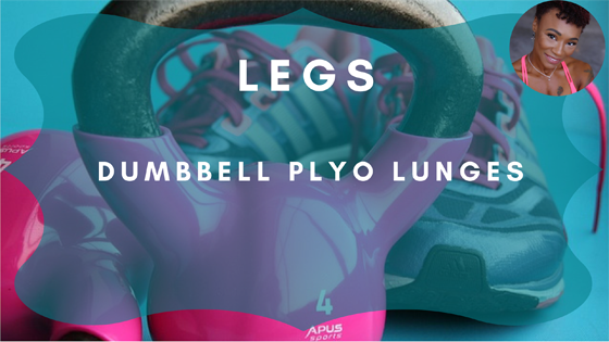 Dumbbell Plyo Lunges