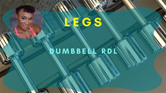 legs dumbbell rdl