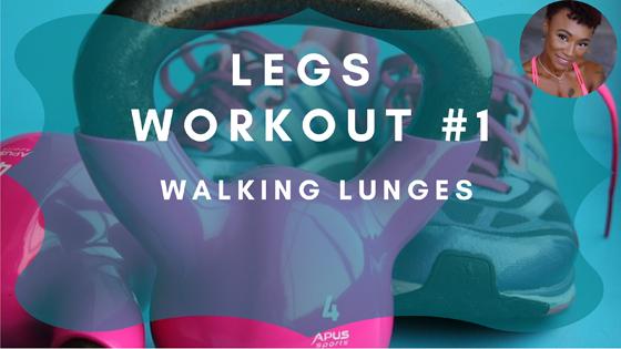 Walking Lunges Leg Workout 1