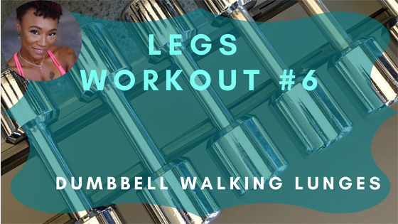 Dumbbell Walking Lunges Legs Workout 6
