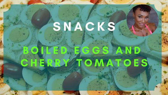 boiled eggs cherry tomatoes snacks