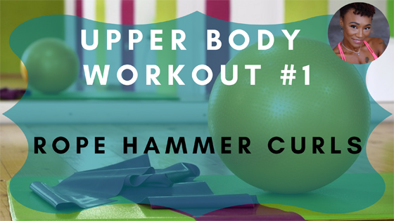 Rope Hammer Curls Upper Body Workout 1
