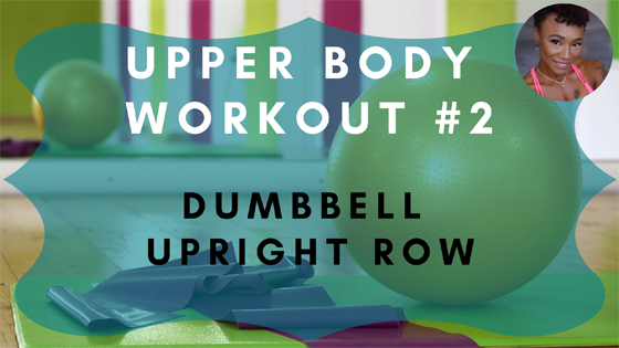 Dumbbell Upright Row Upper Body Workout 2