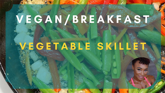 vegetable skillet vegan breakfast
